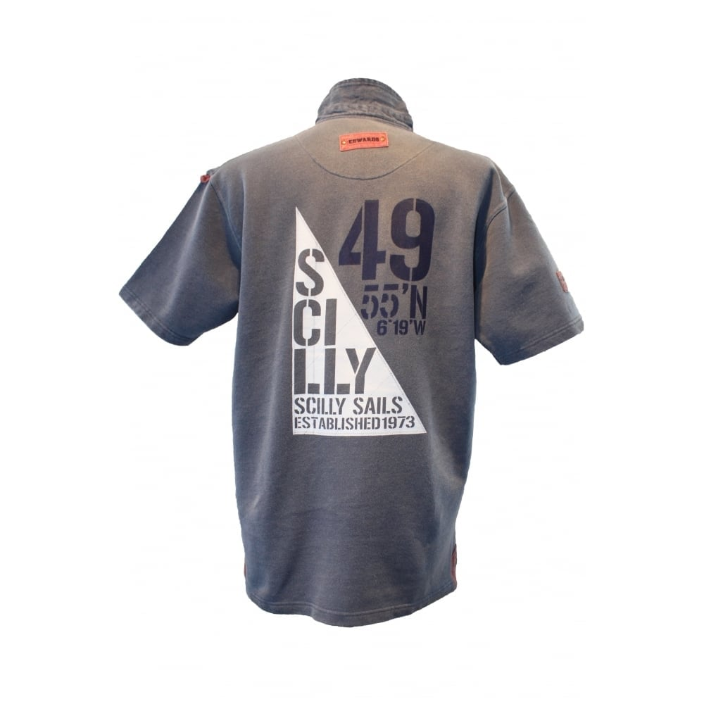 73048ce1c0 Mens Edward Heavies Sail Flag Rugby Shirt Washed Navy