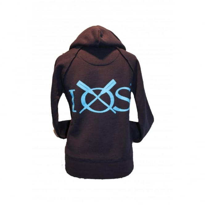 Ladies Organic Cotton Supersoft IOS Hoodie Navy