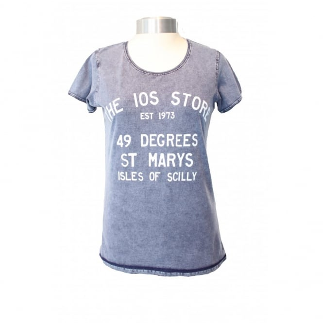 B&C Collection Ladies IOS Store Denim Style Cotton Tee