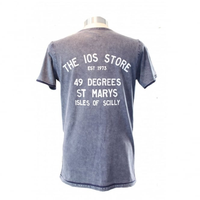 B&C Collection Mens Denim IOS Store Cotton T-Shirt