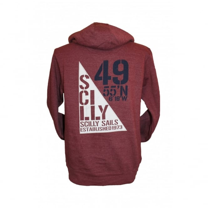 Mens Supersoft Scilly Sails Hoodie wine