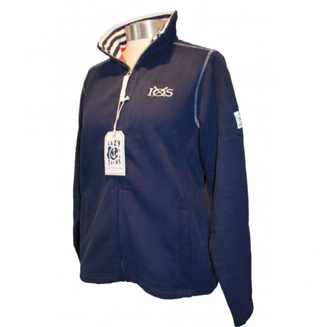 Lazy Jacks Ladies Supersoft Full Zip Sweatshirt Navy