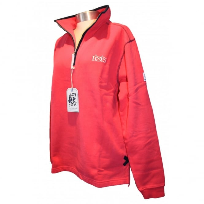 Lazy Jacks 1/4 Zip Cherry Sweat