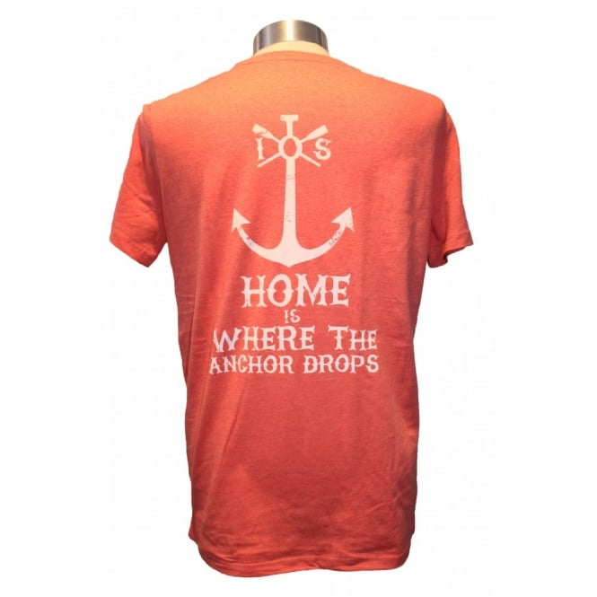 Mens Anchor Drops tee heather red