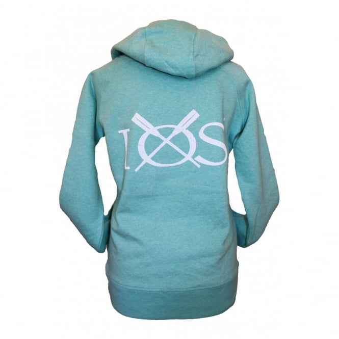 Ladies IOS Organic Cotton Hoodie heather green