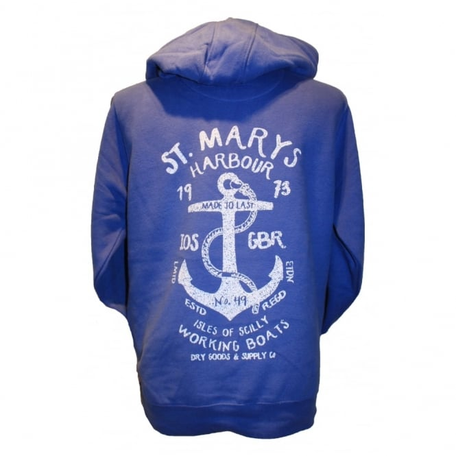 Mens Supersoft St Marys Harbour Hoodie blue