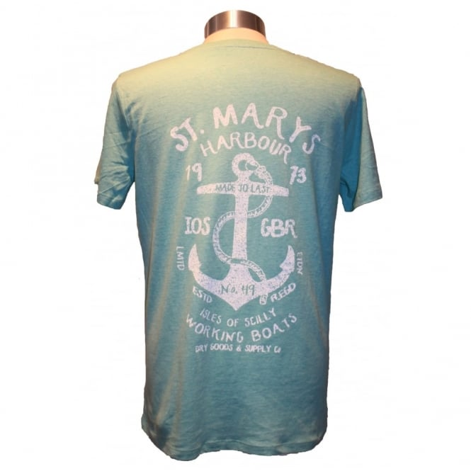 Mens St Marys Harbour Tee green