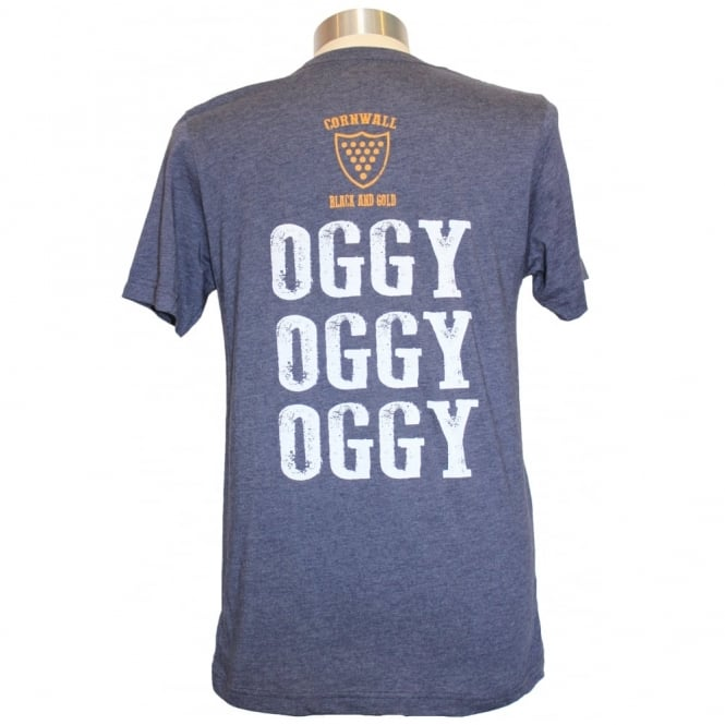 Black and Gold Mens Oggy Oggy Tee heather navy