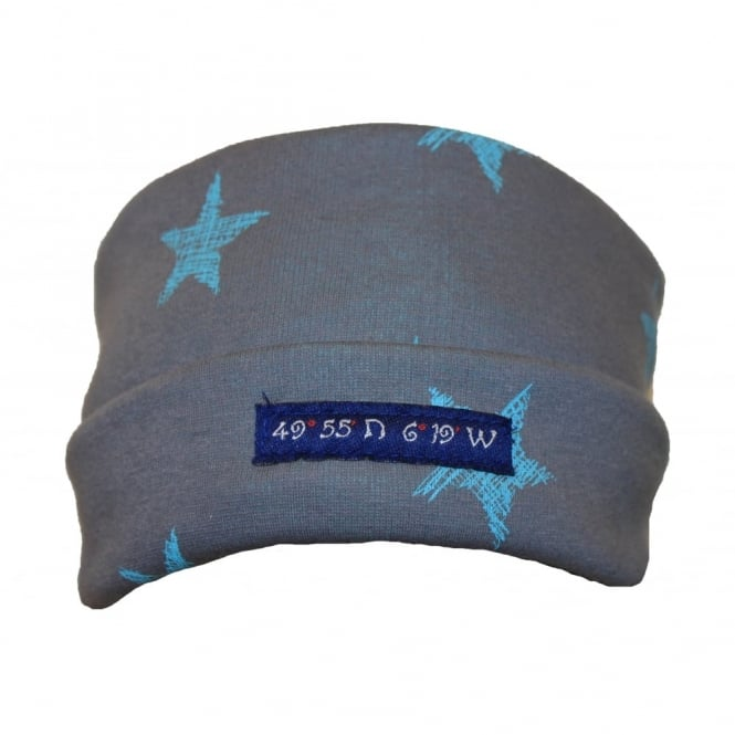 Own Brand Pillarbox 49 Degrees Hat Grey/Aqua Star