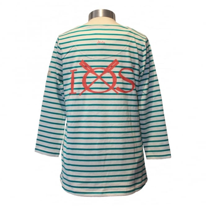 Joules Womens Harbour Emerald Stripe