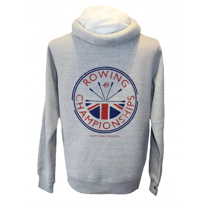 Mens Supersoft Rowing Champs Hoodie Grey