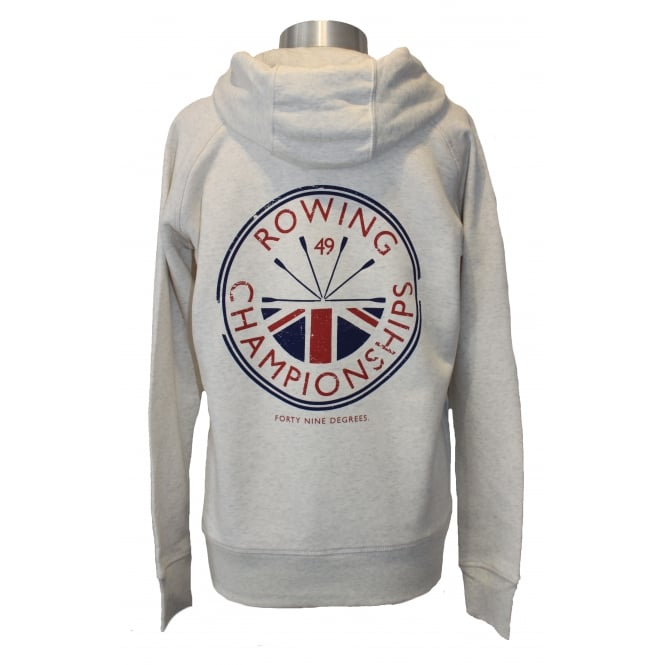 Ladies Rowing Champs Hoodie Heather Grey