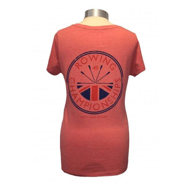 Ladies Rowing Champs T-Shirt Cranberry