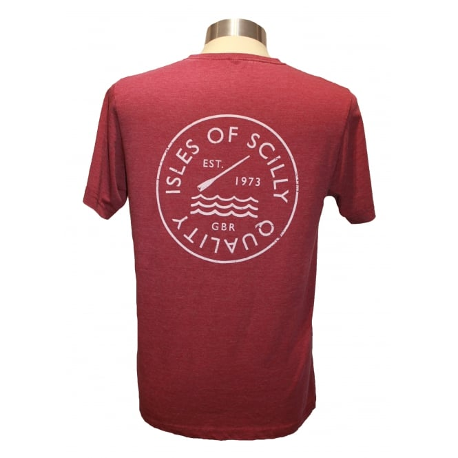 Mens Quality T-shirt Washed Burgundy