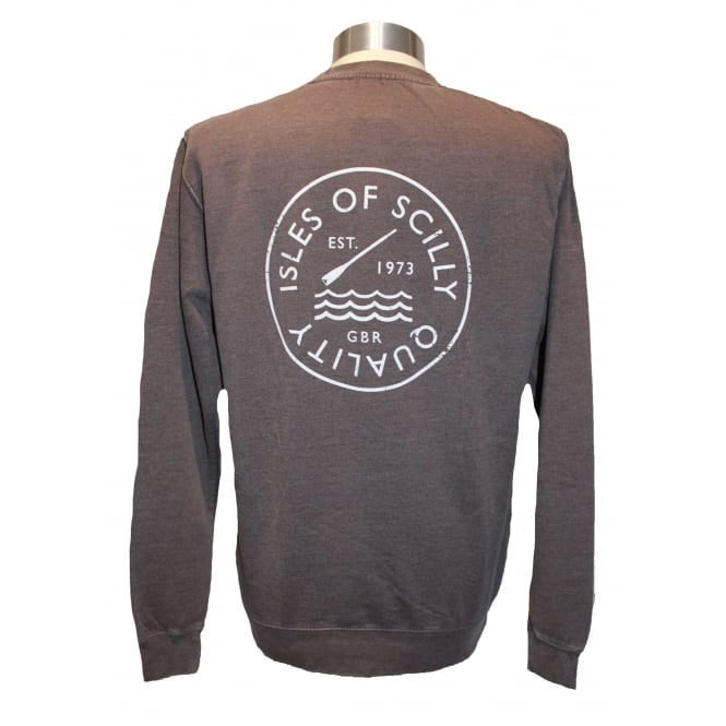 Mens Quality Sweatshirt Washed Charcoal
