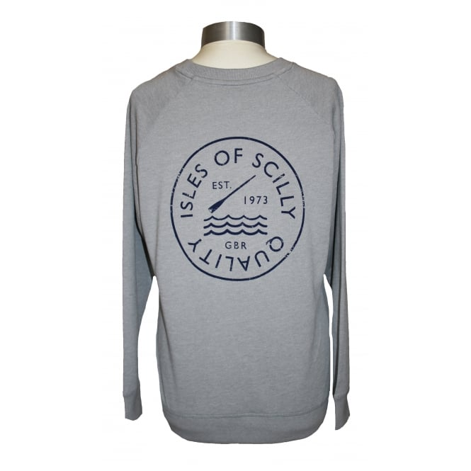 Ladies Quality Raglan Sweatshirt Silver Marl
