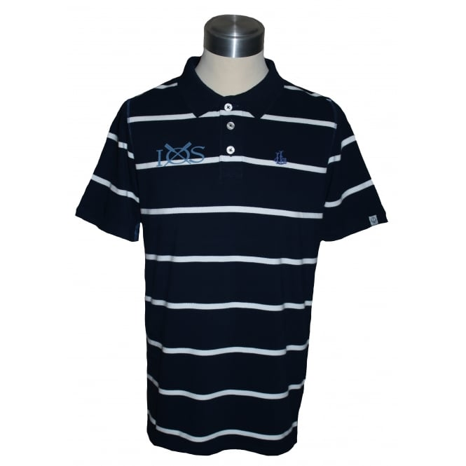 Lazy Jacks Mens Stripe Polo Shirt Marine