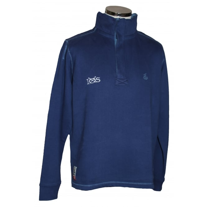 Lazy Jacks Mens Supersoft 1/4 Zip Sweatshirt Twilight
