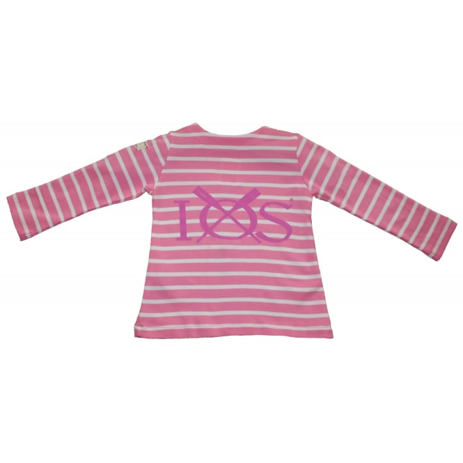 Joules Toddler Harbour Jersey Top Pink Stripe
