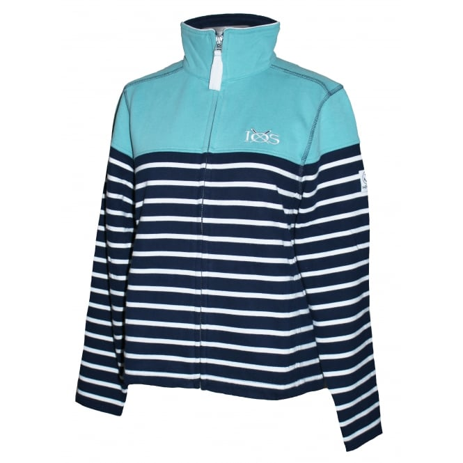 Lazy Jacks Ladies Panel Stripe Full Zip Sea Spray