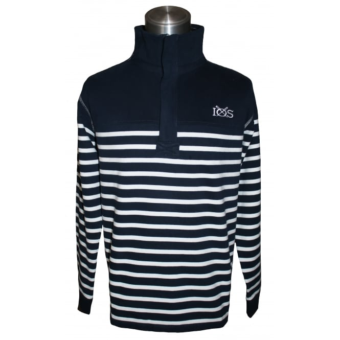 Lazy Jacks Mens Supersoft Quarter Zip Sweatshirt Marine