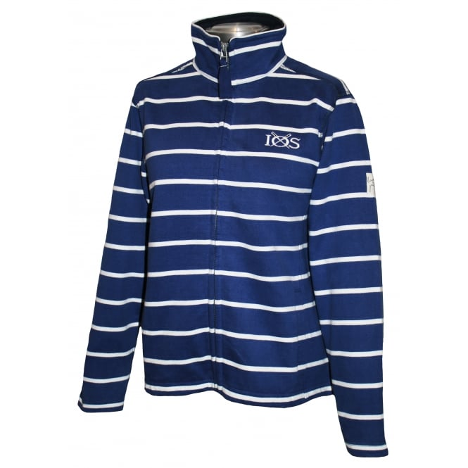 Lazy Jacks Ladies Panel Stripe Full Zip Harbour Blue
