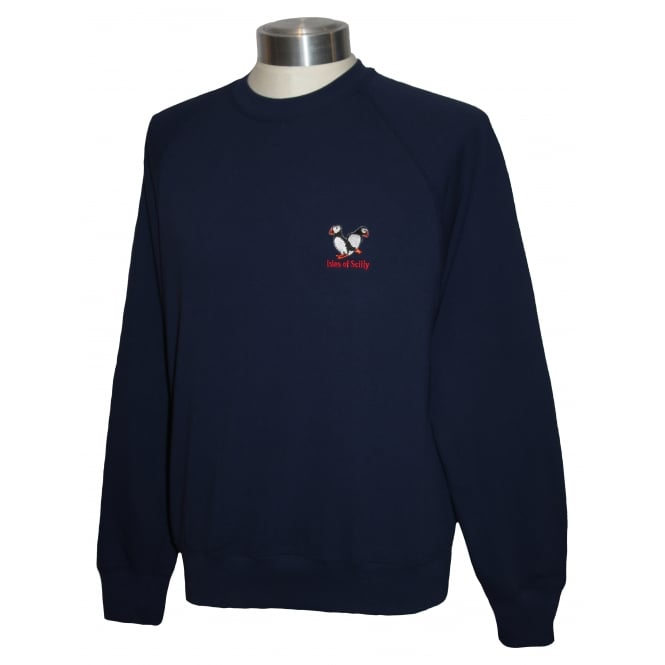 Unisex Scilly Sweatshirt Navy Puffin