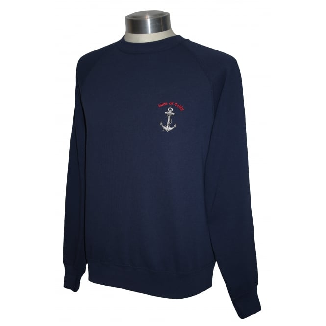 Unisex Scilly Sweatshirt Navy Anchor