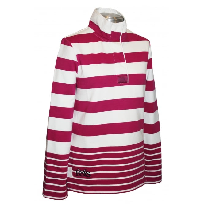 Joules Ladies Saunton Sweatshirt Ruby Stripe