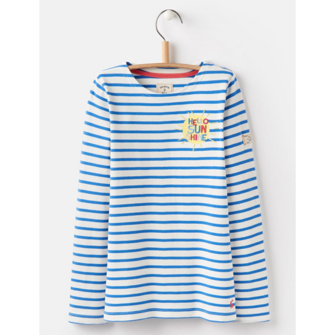 Joules Kids Harbour Printed Jersey Stripe Sunshine