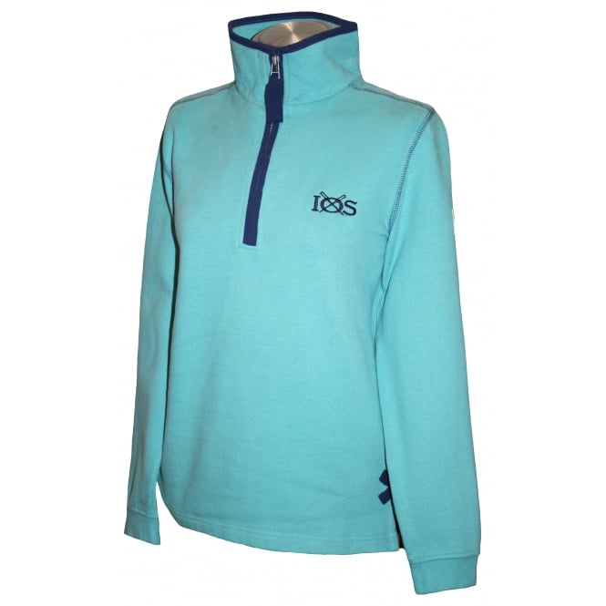 Lazy Jacks Ladies 1/4 Zip Sweatshirt Salt Wash