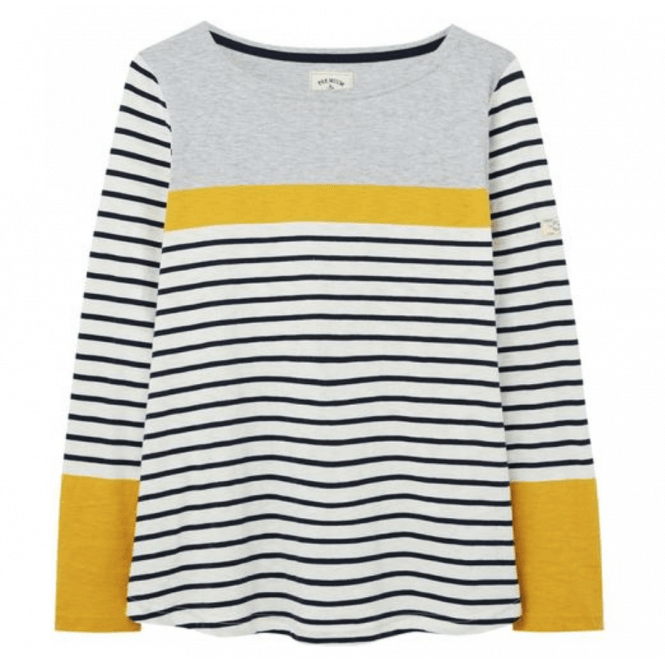 Joules Womens Harbourlight 3//4 Sleeve Lightweight Jersey Top