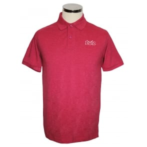Mens Classic Piqué Polo Shirt Red Heather