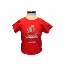Kids Jens Pirate T-Shirt Red