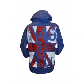 Kids Union Jack Hoodie Royal Blue