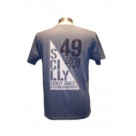 Mens Scilly Sails T-Shirt Stone