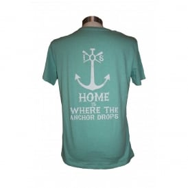 Mens Anchor Drops tee heather green