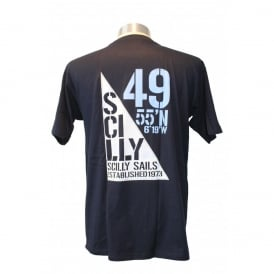 Mens Scilly Sails T-Shirt Navy
