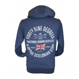 Mens Supersoft Brushed Cotton Rowing Outfitters Hoodie Navy