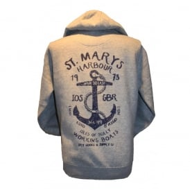 Mens Supersoft St Marys Harbour Hoodie grey