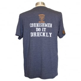 Mens Dreckly Tee heather navy