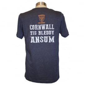 Mens Bleddy 'Ansum Tee heather navy