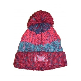 Unisex Corkscrew Pom Pom Beanie Winter Berries