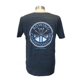 Mens Rowing Champs T-Shirt Heather Denim
