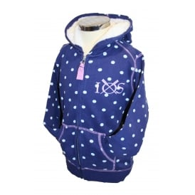 Girls Spotty Hooded Zip Through Twilight