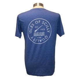 Mens Quality T-shirt Washed Royal Blue
