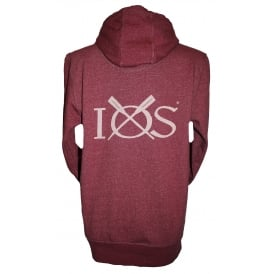 Mens Hoodie Heather Burgundy