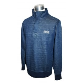 Mens Dash Knit Half Zip Pullover Navy