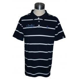 Mens Stripe Polo Shirt Marine