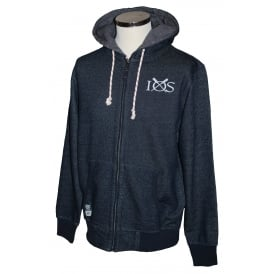 Mens Dash Knit Full Zip Hoodie Navy
